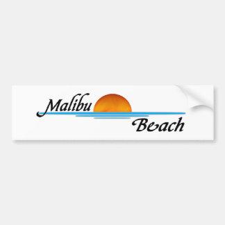 Coucher du soleil de Malibu Autocollant De Voiture