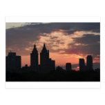 coucher du soleil de Manhattan Carte Postale