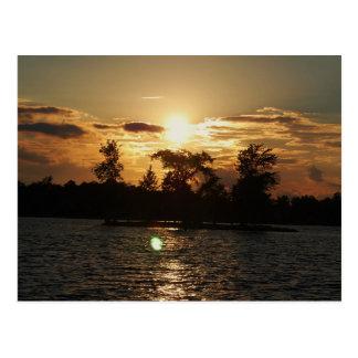 Coucher du soleil de MI Carte Postale