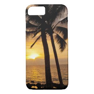 Coucher du soleil de palmier coque iPhone 7