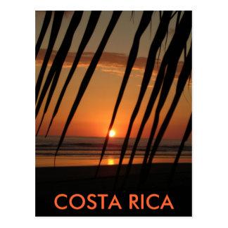 Coucher du soleil de paume de carte postale, COSTA