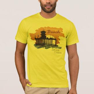 Coucher du soleil de pilier de Huntington Beach - T-shirt