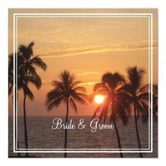 Coucher du soleil de PixDezines à la plage de Carton D'invitation 13,33 Cm