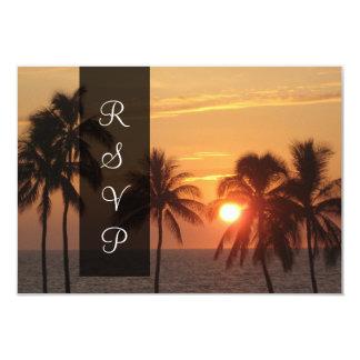 Coucher du soleil de PixDezines à la plage de Carton D'invitation 8,89 Cm X 12,70 Cm