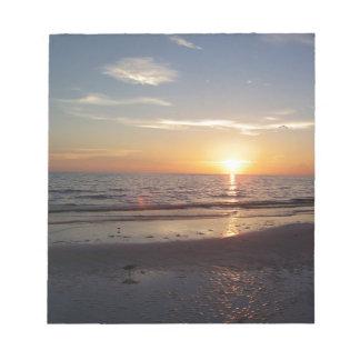 Coucher du soleil de plage bloc-note