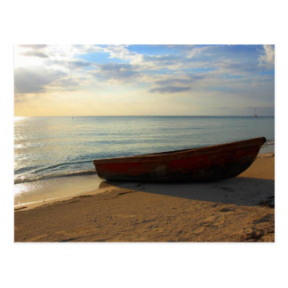Coucher du soleil de plage de 7 milles carte postale