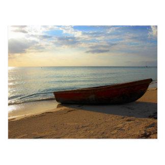 Coucher du soleil de plage de 7 milles cartes postales