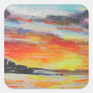 Coucher du soleil de plage de Bondi Sticker Carré