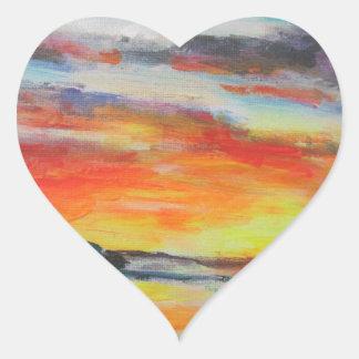 Coucher du soleil de plage de Bondi Sticker Cœur