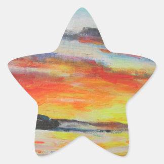 Coucher du soleil de plage de Bondi Sticker Étoile