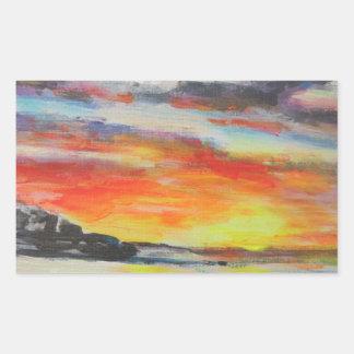 Coucher du soleil de plage de Bondi Sticker Rectangulaire