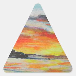 Coucher du soleil de plage de Bondi Sticker Triangulaire