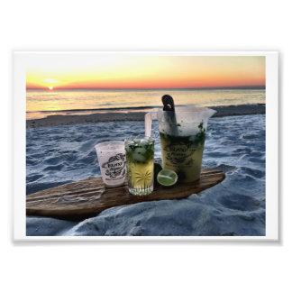 Coucher du soleil de plage de kit d'Adam Mojito Impression Photo