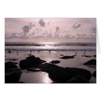 Coucher du soleil de plage de San Diego la Cartes