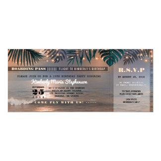 Coucher du soleil de plage du billet | carton d'invitation  10,16 cm x 23,49 cm