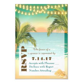 Coucher du soleil de plage épousant RSVP Carton D'invitation 8,89 Cm X 12,70 Cm