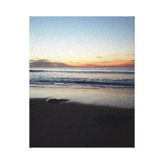 Coucher du soleil de plage toiles