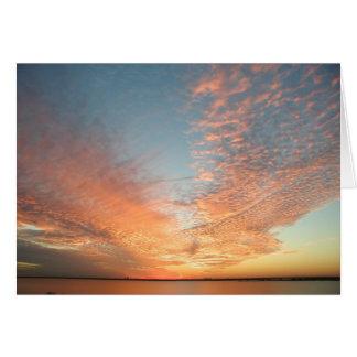 Coucher du soleil de Rockwall le Texas Carte De Vœux