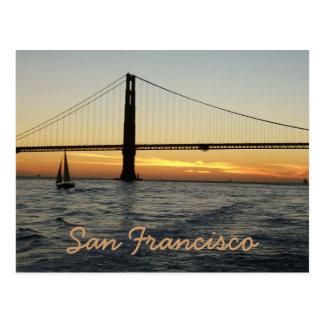 Coucher du soleil de San Francisco Carte Postale