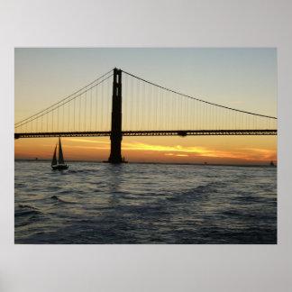 Coucher du soleil de San Francisco Posters