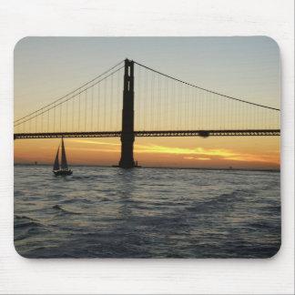 Coucher du soleil de San Francisco Tapis De Souris
