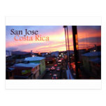Coucher du soleil de San Jose Costa Rica Carte Postale