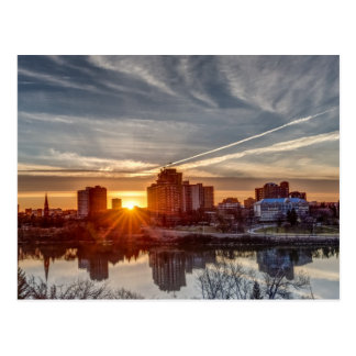 Coucher du soleil de Saskatoon Cartes Postales