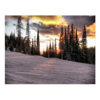 Coucher du soleil de Silverstar Carte Postale