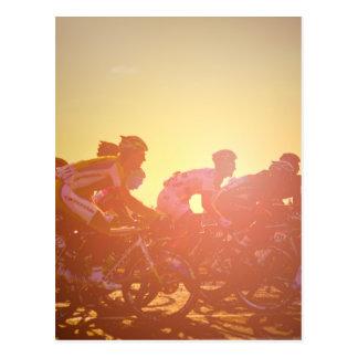 Coucher du soleil de Tour de France Cartes Postales