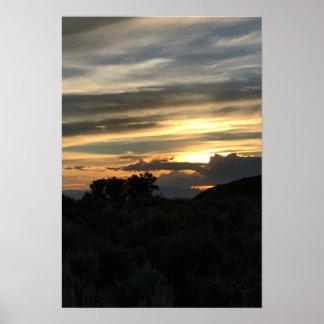 Coucher du soleil de vallée de San Luis Poster