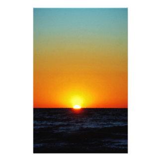 Coucher du soleil de Venise Papier À Lettre Customisé