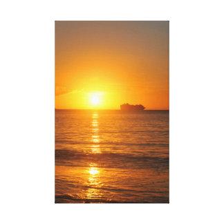 Coucher du soleil des Caraïbes Toile