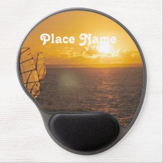 Coucher du soleil des Îles Maurice Tapis De Souris Avec Gel