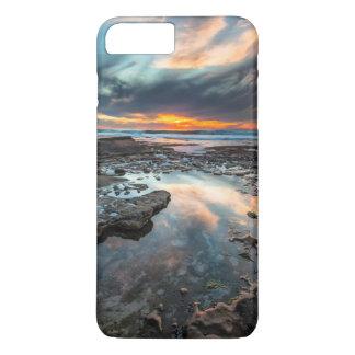 Coucher du soleil des piscines de marée coque iPhone 7 plus