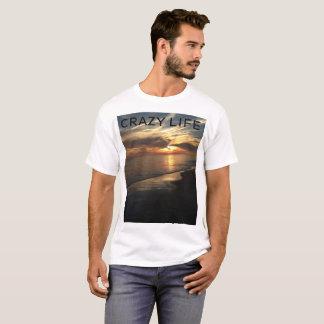 Coucher du soleil d'océan du T-shirt des hommes