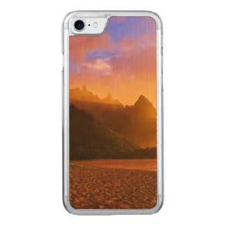 Coucher du soleil d'or de plage, Hawaï Coque Carved Pour iPhone 7