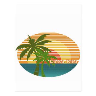 Coucher du soleil du Costa Rica Carte Postale