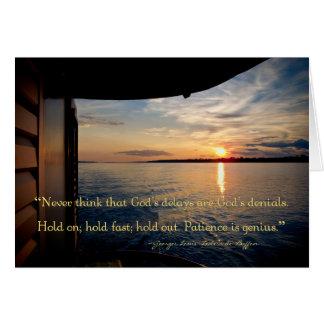 Coucher du soleil du fleuve Amazone avec la citati Carte De Vœux