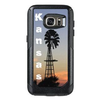 Coucher du soleil du Kansas, galaxie faite sur Coque OtterBox Samsung Galaxy S7