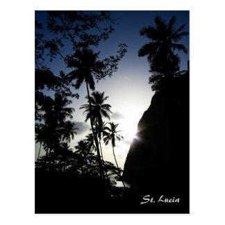 Coucher du soleil du St Lucia Carte Postale