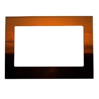 Coucher du soleil du sud .1. d'Autunm de roche de Cadres Aimantés Avec Photo