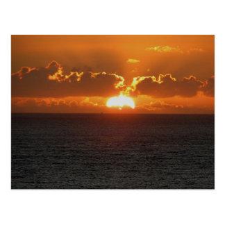 Coucher du soleil du sud .2. d'Autunm de roche de  Cartes Postales