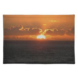Coucher du soleil du sud .2. d'Autunm de roche de  Set De Table