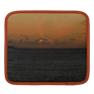 Coucher du soleil du sud .2. de roche de Devon Poches iPad