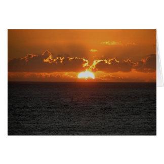 Coucher du soleil du sud .3. de roche de Devon Carte De Vœux