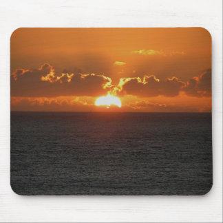 Coucher du soleil du sud .3. de roche de Devon Gar Tapis De Souris