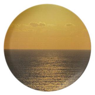 Coucher du soleil du sud .4. de vRock de Devon Assiette