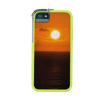Coucher du soleil du sud d'automne de roche de coque iPhone 5