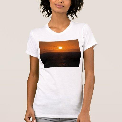Coucher du soleil du sud d'Autunm de roche de T-shirts