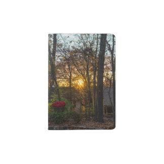 Coucher du soleil en bois de Sdc Protège-passeports